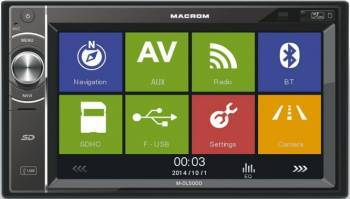 Multimedia Player auto Macrom M-DL5000 4x45W USB Touchscreen Bluetooth GPS Player Auto