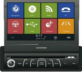 Multimedia Player auto Macrom M-DVD6560 4x45W Touchscreen USB Bluetooth GPS Player Auto
