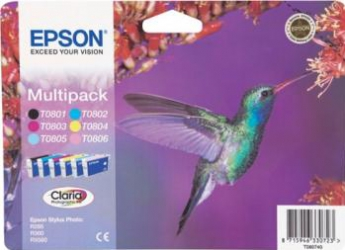 Multipack Ink 6 Color Epson Stylus Photo P50 R265 R285 360 RX560