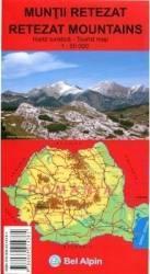 Muntii Retezat - Harta turistica Carti