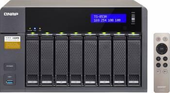 NAS QNAP 8x bay noHDD 2.5 sau 3.5 inch 4GB RAM Negru Network attached storage NAS