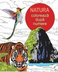 Natura Coloreaza dupa numere