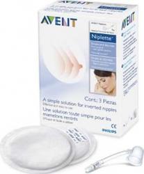 Niplette-remediu pentru mameloane aplatizate Philips SCF152 Accesorii alaptare