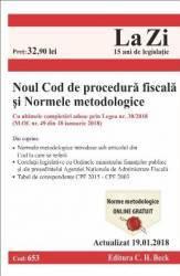 Noul Cod de procedura fiscala si Normele metodologice act. 19.01.2018