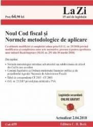 Noul Cod fiscal si normele metodologice de aplicare Act. 2.04.2018