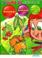 O lume de colorat fructe seminte legume
