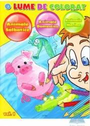 O Lume De Colorat Vol1 Animale Salbatice Animale Domestice Animale Marine