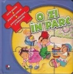O zi in parc - Carte-Puzzle + Pagini de colorat + Poveste educativa si amuzanta Carti