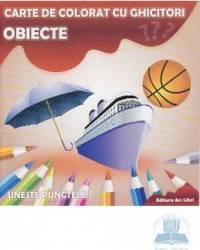 Obiecte - Carte de colorat cu ghicitori