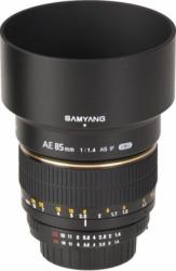 Obiectiv Foto Samyang 85mm f1.4 AE pentru Nikon Manual Focus
