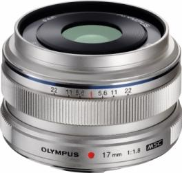 Obiectiv Foto Olympus M.ZUIKO DIGITAL 17mm 1 1 8 Argintiu