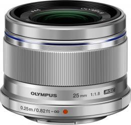 Obiectiv Foto Olympus M.ZUIKO DIGITAL 25mm 1 1.8 Argintiu Obiective