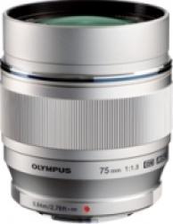 Obiectiv Foto Olympus Zuiko Digital ED 75mm f1.8 Silver