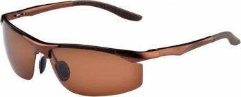 Ochelari de soare pentru barbati polarizati sport 8179, Maro Ochelari de soare