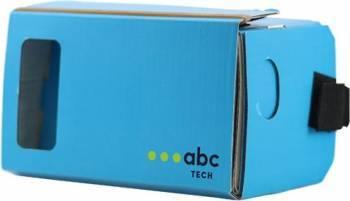 Ochelari VR ABC Tech Cardboard Albastru