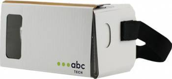 Ochelari VR ABC Tech Cardboard Alb Gadgeturi