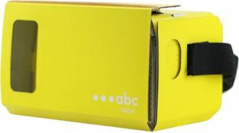 Ochelari VR ABC Tech Cardboard Galben Gadgeturi