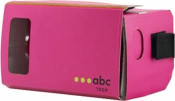 Ochelari VR ABC Tech Cardboard Roz Gadgeturi