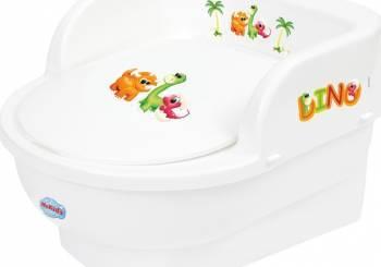 Olita copii MyKids Throne Dino Alb Olite si reductoare WC