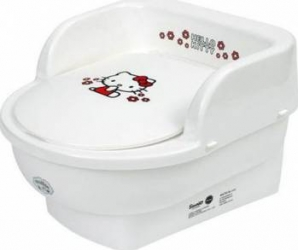 Olita copii MyKids Throne Hello Kitty Alb Olite si reductoare WC