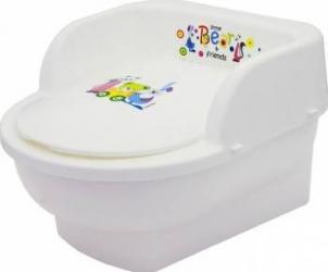 Olita copii MyKids Throne Little Bear and Friends Alb Olite si reductoare WC