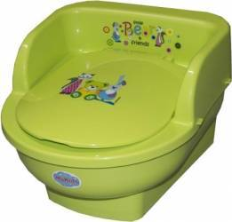 Olita copii MyKids Throne Little Bear and Friends Verde Olite si reductoare WC