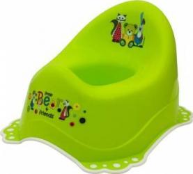 Olita muzicala MyKids Little Bear and Friend sistem antialunecare Verde Olite si reductoare WC