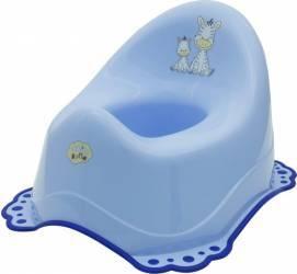 Olita Muzicala MyKids Zebra Antialunecare Albastru Olite si reductoare WC