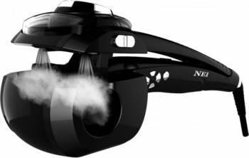 Ondulator de par NEI NE06, automat, cu jet de abur, camera ceramica, Negru Ondulatoare de par