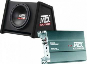Pachet Amplificator MTX RT602 2x60W + Subwoofer MTX R12AV 250W