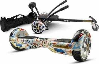 Pachet Combo Hoverkart + Hoverboard MonkeyBoard Graffo Xplorer + Geanta transport Vehicule electrice