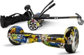 Pachet Combo Hoverkart + Hoverboard MonkeyBoard Grafitti Cool 6.5inch + Geanta transport Vehicule electrice