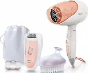 Set epilator Philips Satinelle HP654200 Perie si uscator
