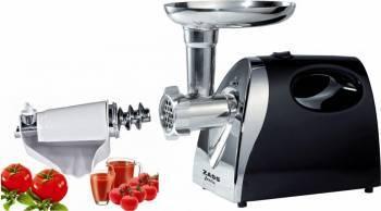 Pachet masina de tocat Zass ZMG 04 cu accesoriu storcator rosii Zass ZJAMG 04, Silver Black Masini de tocat