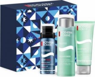 Pachet promo Biotherm Homme Aquapower 75ml + Shaving Foam 50ml + Shower Gel 75ml Seturi & Pachete Promo
