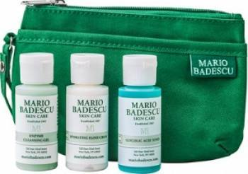 Pachet promo Mario Badescu Enzyme Cleasing Gel + Hydrating Hand Cream + Glycolic Acid Toner