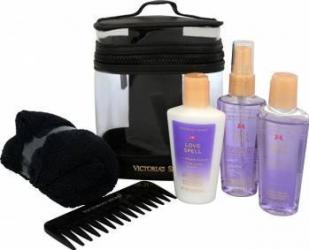 Pachet promotional Victorias Secret Love Spell Nourishing Body Spray 60ml + Body lotion 60ml + Shower Gel 60ml + Comb +  Pachete Promotionale