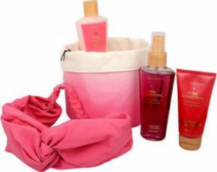 Pachet promotional Victorias Secret Pure Seduction Nourishing Body Spray 125ml + Body Cream 60ml + Body Lotion 125ml + H Pachete Promotionale