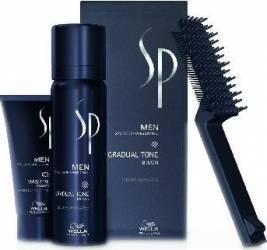 Pachet Wella Professionals SP MEN Gradual Tone Brown + Sensitive Shampoo + Perie