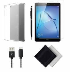 pret preturi Pachet Accesorii TPU pentru tableta Huawei MediaPad T3 8 inch semi-transparent