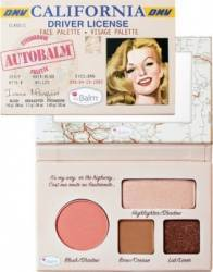 Paleta de culori TheBalm Autobalm California Face Palette Make-up ochi