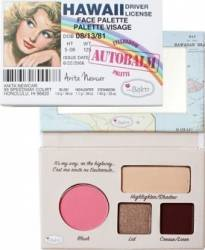 Paleta de culori TheBalm Autobalm Hawaii Face Palette Make-up ochi