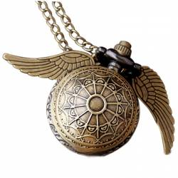 Pandantiv Medalion Lantisor Ceas Harry Potter Golden Snitch M1 Bronze Gaming Items