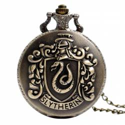 Pandantiv Medalion Lantisor Ceas Harry Potter Slytherin Bronze Gaming Items