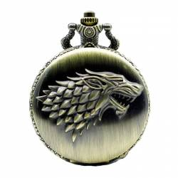 Pandantiv Medalion Lantisor Colier Ceas Game Of Thrones Wolf Stark Bronze Gaming Items