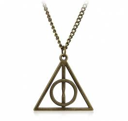 Pandantiv Medalion Lantisor Harry Potter Deathly Hallows Triangle Triunghi Pandantive