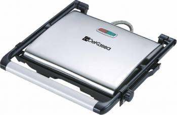 Panini grill DeKassa DK-1200 2000W Carcasa inox Termostat Protectie supraincalzire Sandwich maker