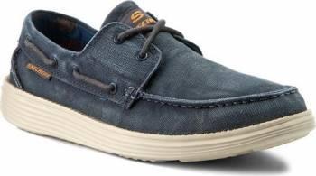 Pantofi sport barbati SKECHERS STATUS- MELEC 64644-NVY Marimea 44 Incaltaminte barbati