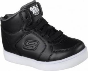 Pantofi sport copii SKECHERS ENERGY LIGHTS BLK Marimea 26 Incaltaminte copii