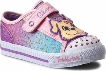 Pantofi Sport Copii SKECHERS SHUFFLES-PLAY DATES Pink Marimea 24 Incaltaminte copii